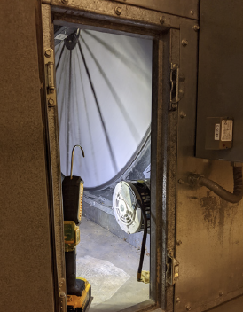 Airxchange's unique and practical hygienic wheel designmakes it easy to remove and clean the energy transfer media outside the air-handler unit.