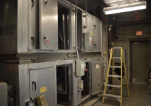 Airxchange segmented wheel resolves AHU restrictions without compromising the cabinet structure.
